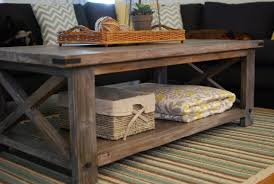 rustic coffee table intended for ana white x diy projects decor plans with wheels uk tables