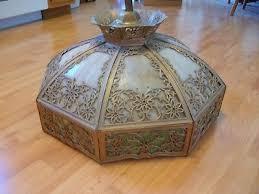 gorgeous antique slag glass chandelier