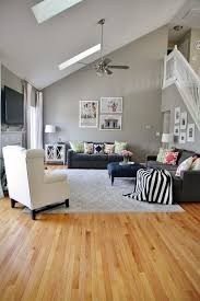 Carpet Colors For Living Room Classy Gray Living Room With Pops Of Pattern And Color Gray Walls And