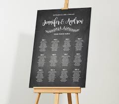 Wedding Seating Chart Template Editable Pdf Diy Rustic