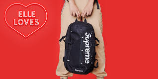 supreme backpack red leather