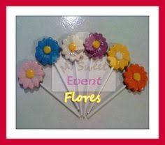 paletas flores de chocolate