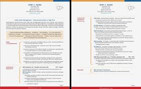 2 Page Resume Format Co Template Two Free Download Templates