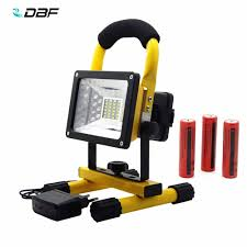 Battery Flood Lights Outdoor Us 20 02 55 Off Waterproof 24led 3models Led Flood Light Portable Spotlights Rechargeable Outdoor Led Emergency Light 3 18650 Battery Charger In