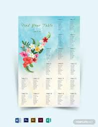 Beach Wedding Seating Chart 14 Simple Wedding Seating Chart Samples In Pdf Word