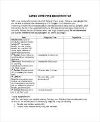 Recruiting Plan Template Recruitment Plan Templates 12 Free Word Pdf Format