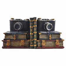 <b>Retro Camera</b> Shelf Tidy Book Ends - Heavy <b>Vintage</b> Storage ...