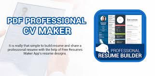 Professional Resume Maker Cv Builder Pdf Format V1 0 7