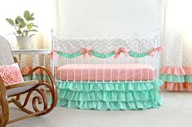 bedding cribs shabby chic mint green crib furniture interior home design flannel patchwork seahorse dust ruffle