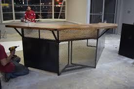 industrial style reception desk by terry hamlett