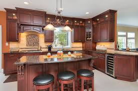 New Jersey Kitchen Cabinets Dark Cherry Kitchen Perfection Wall New Jersey By Design Line Kitchens