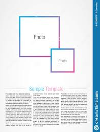 Magazine Article Format Template Magazine Style Editorial Template Stock Vector
