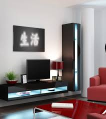 ... Wall Units, Wall Cabinets For Tv Wall Mounted Tv Cabinet With Doors DIY  TV Wall ...