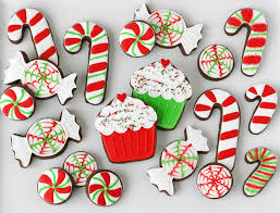 Candy Cane Decorated Cookies