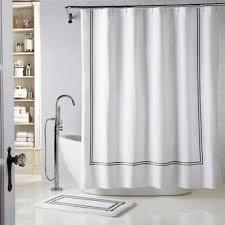 Image White Striped Bed Bath Beyond Wamsutta Baratta Stitch Shower Curtain