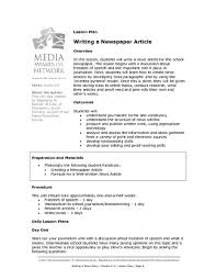 Writing A Newspaper Article Writing A Newspaper Article Lesson Plan For 6th 9th Grade