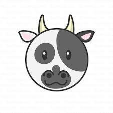 可愛い牛の顔の無料イラスト素材イラストイメージ