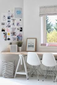 Simple Office Design Beauteous Tafel Met Schragen Als Bureau Is Cool Evt Niet Tegen Muur Zodat Het