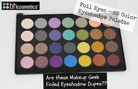 review swatches new bh cosmetics foil eyes 28 color eyeshadow palette
