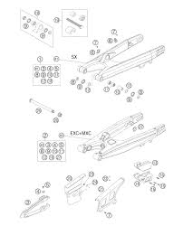 2005 ktm 200 exc swing arm parts best oem swing arm parts diagram for 2005 200 exc motorcycles
