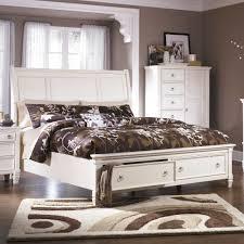 white king storage bed. Ashley Furniture Prentice Queen Sleigh Storage Bed In White King