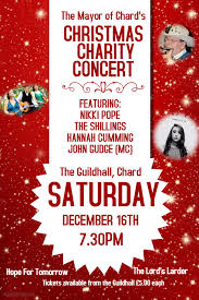 Christmas Concert Poster The Mayor Of Chards Christmas Charity Concert Chard Town Council