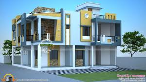 Front Elevation Designs For Duplex Houses In India Modern Duplex House India Kerala Home Design And Floor Plans