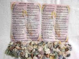 Details About Chakra Healing Stones Kit W Educational Chart 7 Stones 7 Silken Pouches