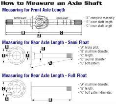 Dana 44 Front Axle Shaft Length Chart Tech Info