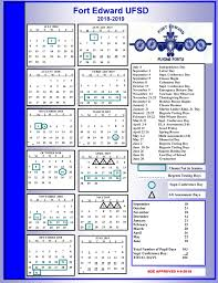 one page calender one page calendar fort edward union free school district