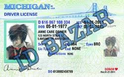 Psd Template License Driver Michigan