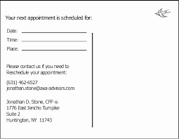 Doctor Appointment Card Template Unique Appointment Reminder Template Word Audiopinions