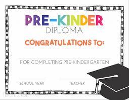 Preschool Graduation Certificate Editable Pre K Diplomas Rome Fontanacountryinn Com