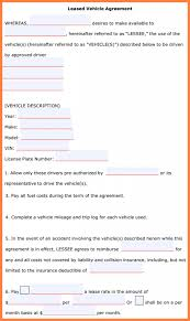 Employee Vehicle Use Agreement Template Yearly Contract Templates ...