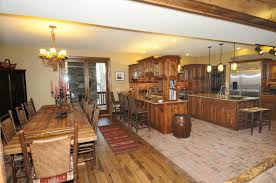 Kitchen Tile Floor Kitchen Exciting Dining Room Decoration Rustic Wood Floor