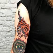 Old School Tygr Black House Tattoo