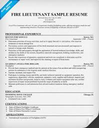 Gallery Of Firefighter Resume Template