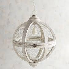 Pier 1 Pendant Lights Rosard Gray Wash Pendant Light In 2019 Rustic Pendant