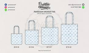 Tote Bag Size Chart
