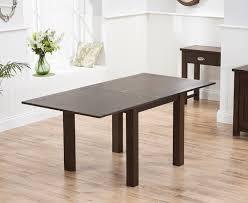 mark harris sandringham solid dark oak dining table 90cm square flip top extending