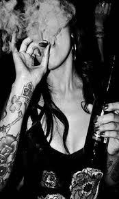 Black Wallpaper Smoke Girl