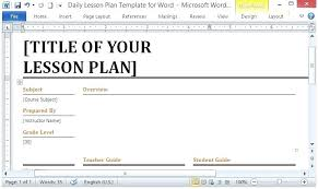 Weekly Plan Templates Lesson Calendar Template Word Definition