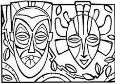 Small Picture african mask template coloring for kids on a region in the