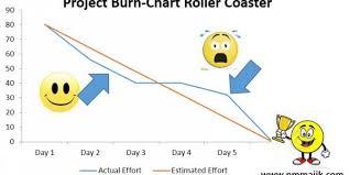Burn Chart Agile Project Burn Down Chart Overview Pm Majik