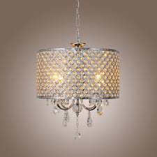 modern drum chandeliers modern new drum crystal chandelier with 4 lights light for