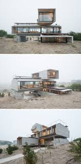 Architect Luciano Kruk designed a house made of three stacked ...