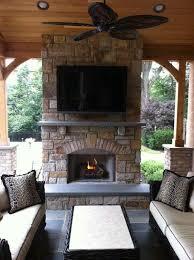 outdoor fireplace deck design amazing deck