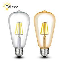 Cheap 110v 220v St64 Vintage Led Lamp E27 Retro Led Filament Light Bulb 8w 12w 16w Glass Edison Lamparas Cob Gold Decoration