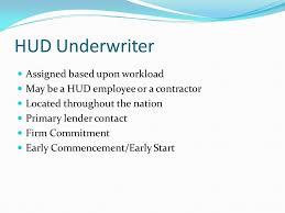 Lender Underwriter Training Hud Office Of Healthcare