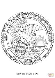 Small Picture Illinois State Seal coloring page Free Printable Coloring Pages